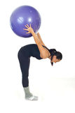 Fitness woman with ball Royalty Free Stock Photo