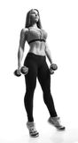 Fitness woman with barbells Royalty Free Stock Photography