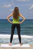 Fitness woman at the beach Stock Image