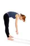 Fitness Woman Bend Exercise stock photography