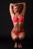 Fitness woman in bikini Stock Photo