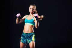 Fitness Woman Boxing and Working Out Stock Photography