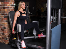 Fitness woman doing breeding feet Stock Photo