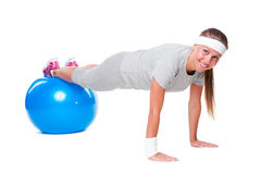 Fitness woman doing exercise Stock Photo