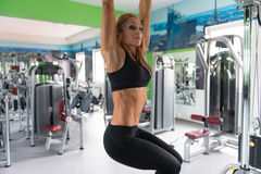 Fitness Woman Doing Exercise For Abs Royalty Free Stock Photo