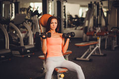 Fitness woman doing exercises Royalty Free Stock Photo