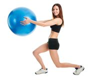 Fitness woman doing lunge exercise Stock Image