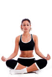 Fitness Woman doing meditation Royalty Free Stock Photo