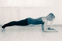 Fitness woman doing plank Stock Image