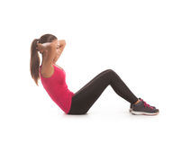 Fitness woman doing sport exercise Stock Images