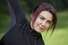 Fitness woman doing stretching Stock Images