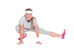 Fitness woman doing stretching Royalty Free Stock Photo