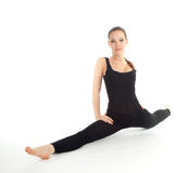 Fitness woman doing stretching exercise Royalty Free Stock Images