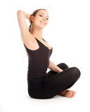 Fitness woman doing stretching exercise Royalty Free Stock Photos