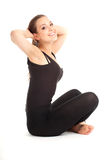 Fitness woman doing stretching exercise Stock Image