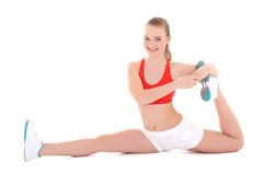 Fitness woman doing stretching exercise Royalty Free Stock Photography