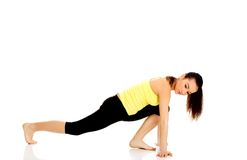 Fitness woman doing stretching exercise. Stock Image