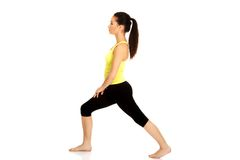 Fitness woman doing stretching exercise. Stock Photography