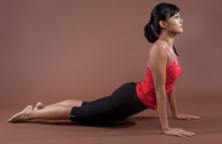 Fitness woman doing stretching exercises Royalty Free Stock Photography
