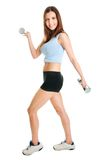 Fitness woman doing weight lifting Royalty Free Stock Image