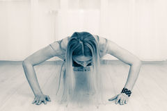 Fitness woman doing workout Stock Photos