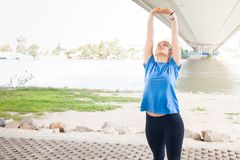 Fitness Woman doing workout outdoor Royalty Free Stock Photo