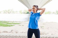 Fitness Woman doing workout outdoor Stock Images