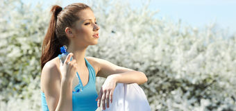 Fitness Woman Drinking Water Royalty Free Stock Photo