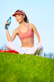 Fitness Woman Drinking Water Stock Photography