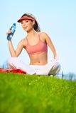 Fitness Woman Drinking Water. Beautiful Fitness Woman Drinking Water Stock Photography