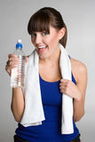 Fitness Woman Drinking Water. Happy fitness woman drinking water Royalty Free Stock Images