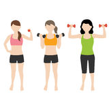 Fitness woman with dumbell. Vector illustration of fitness woman with dumbell Vector Illustration