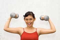 Fitness woman exercise Stock Images