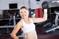 Fitness woman exercising Stock Photography