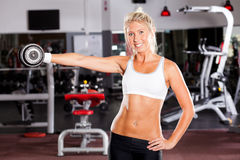 Fitness woman exercising Royalty Free Stock Photos