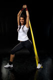 Fitness  woman exercising Royalty Free Stock Photos
