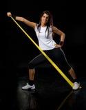 Fitness  woman exercising Stock Photos