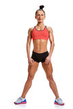 Fitness woman full length Stock Photography