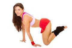 Fitness woman with good figure Stock Photography