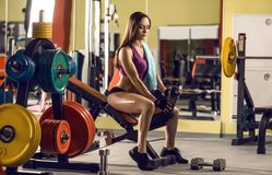 Fitness woman in gym Stock Photos