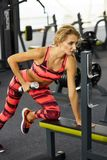 Fitness. Woman. Gym Stock Image