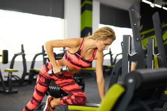 Fitness. Woman. Gym Stock Photos