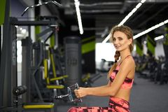 Fitness. Woman. Gym Royalty Free Stock Images