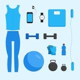 Fitness woman gym Stock Image