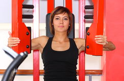 Fitness woman in gym royalty free stock photo