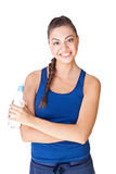 Fitness woman holding bottle of water Stock Photography