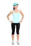 Fitness woman isolated Royalty Free Stock Images