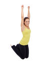Fitness woman jumping Royalty Free Stock Photos