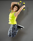Fitness woman jumping Royalty Free Stock Image
