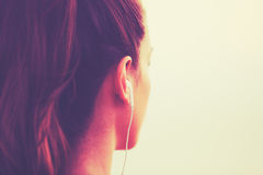 Fitness Woman Listening to Music Stock Photography